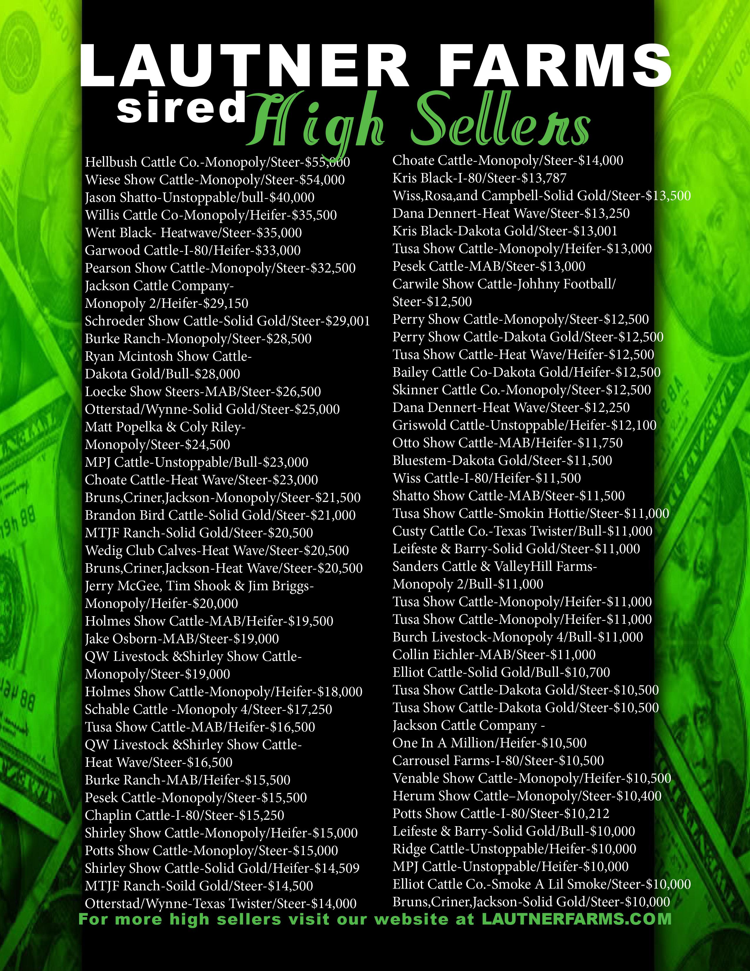 2015 fall high sellers PDF