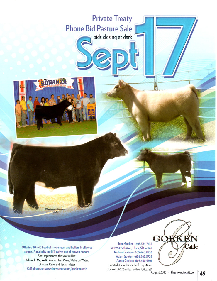 2013 Pasture sale poster