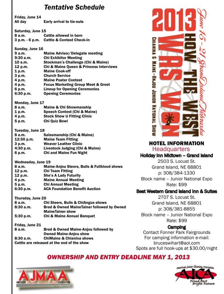 2013JrNationalSchedule